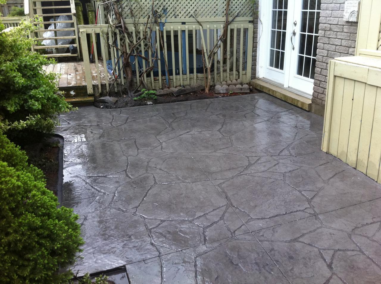 Flagstone Stamped Concrete : Arizona flagstone stamped patio